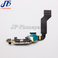 Wholesale Iphone Ic Parts - Free shipping NEW Charger Connector dock Micro Charging Port Replacement Parts flex Cable Ribbon with protect ic For iphone 4S
