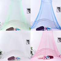 Wholesale Mosquito Net Dome - Elegant Round Lace Insect Bed Canopy Netting Curtain Dome Mosquito Net New House Bedding Decor IB523