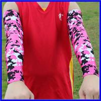 manche de compression rose achat en gros de-rose Manches de bras de compression Digital Camo Youth Adult