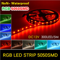 NUOVO LED 5050 SMD RGB Rosso Verde Blu Bianco Caldo Bianco 60 LED / Metro Flessibile LED Strip Light 12V Decorazione domestica LED Ribbon
