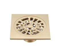 """Wholesale Bathroom Accessories Floor Drain - Floor Drain 4 Inches Bathroom Accessory Antique Gold Brass Kitchen Square Drains with Removable Straine 4"""""""