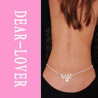 Bébé Belly Chain et Lower Back Chain Waist Bijoux Fashion FG1511