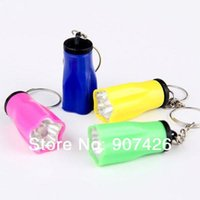 Wholesale Led Flashlights Key Chains - Free shipping wholesale LED Key chain flashlight 550pcs  lot 1019#19