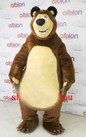 Wholesale Brown Grizzly Bear Costume - Hot 2016 High Quality Masha Bear Ursa Grizzly Mascot Costume Cartoon Character Free Ship