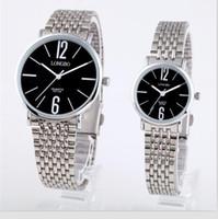 Wholesale Fine Wave - Long wave brand men's lovers watch Korean fine quartz watch waterproof strip simple business casual Watch