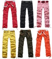 Wholesale Army Pants Girls - Women Clothing Fashion Womens Army Fatigue Cargo Pants Girls Harem Hip Hop Dancing Pants Regular Fit Straight Multi-pocket Trousers 89