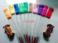 Color de Fedex DHL Freeshipping 4M Gym Danza cinta Rítmica Gimnasia Arte Streamer Baton Twirling Vara Mix, 100pcs / lot