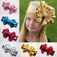 Wholesale Children Metal Headband - 2017 Flowers Headband Hair Bands headwear Children hot metal color bow new children with 7 color