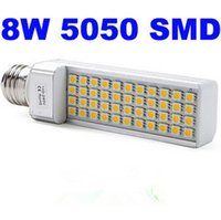 Wholesale G24 8w Cool White - E27 LED Corn Light PL 8W 5050 SMD 40 LED Bulb Lamp Cool Warm White 85V-265V E27 G24 led corn bulbs light