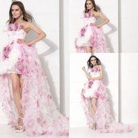 kız elbiseleri strapless toptan satış-Custom Made Örgün Quinceanera Pageant elbise Balo Straplez Kolsuz Backless Kız Vestidos De Fiesta Olay Seksi Akşam Balo Abiye