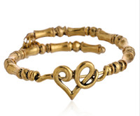 Wholesale Alex Ani Beaded - Alex&Ani antique silver gold plated simple Heart Wrap charms and beads Alex and Ani Bangles beaded luckly bracelet for women
