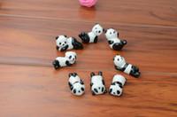 çatal kaşık partisi toptan satış-Toptan-10x Seramik Gereçleri Panda Chopstick Dinlenme Porselen Kaşık Çatal Bıçak Tutucu Standı Sevimli Güzel Hayvan Şekilli Ev Kullanımı Yemeği Parti