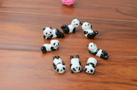 Wholesale Spoon Chopsticks Ceramic - Wholesale-10x Ceramic Ware Panda Chopstick Rest Porcelain Spoon Fork Knife Holder Stand Cute Lovely Animal Shaped Home Use Dinner Party