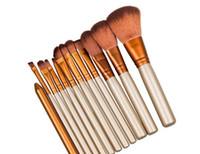 Wholesale Professional Make Up Boxes - 2017 Naked 3 Professional 12 PCS Makeup brush Cosmetic Facial Make-up Brush Tools Makeup Brushes Set Kit Retail Box