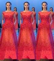 Wholesale Elie Saab Bateau Dress - 2015 Luxury Elie Saab Evening Dresses Bateau Neck Beadings Formal Couture Long Prom Gowns Vestidos de Noche Prom Party Dress Celebrity Gowns