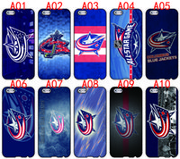 ingrosso apple iphone 4s blu-Custodie per telefoni Columbus Blue Jacket per iPhone 6 6 Plus 5 5S 5C 4S iPod Touch 5 per Samsung Galaxy S6 Edge S5 S4 S3 Note 5 4 3 borsa per telefoni cellulari
