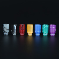 Wholesale Ego Color Drip Tip - 510 Wide bore Drip tips Rich Color Resin Drip Tip Acrylic Art Flower Drip Tips 510 Mouthpieces for EGO Electronic Cigarette