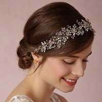 Wholesale Cheap Vintage Hair Accessories - 2015 Free Shipping Cheap Party Bridal Crown Tiara Wedding Jewelry Vintage Bohemia Rhinestone Headpieces Hair Accessories 18062 In Stock