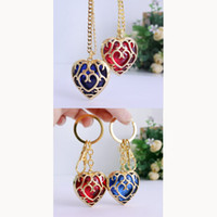 Wholesale zelda skyward sword - Free Shipping The Legend of Zelda Keychain Blue Heart Skyward Sword Heart Container Pendant Jewelry Key Chain