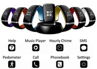Wholesale Sms Yellow - L12S L12 OLED Touch screen Bluetooth 3.0 Bracelet Wrist Watch Smart Watch for IOS iPhone Samsung and Android Phone Call Answer SMS Reminding