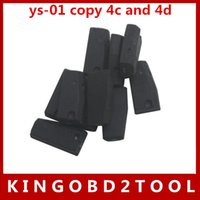 Wholesale 4c Hyundai - Free Shipping 5pcs lot ys-01 transponder chip copy 4c and 4d repeat clone by CN900 or ND900,YS-01 car key transponder chip in stock now