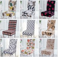 Wholesale chair 15 - Floral Printing Chair Cover Home Dining Multifunctional Spandex Chair Cover Removable Elastic Slipcovers Seat Covers 15 Styles OOA3463