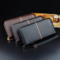 Wholesale Gentleman Photo - Factory wholesale brand embossed leather bag gentleman style Long Wallet Card Wallet business casual fashion multi solid leather hand Wallet
