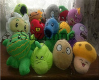Unisex 5-7 Years Video Games Wholesale lots 14pcs set Plants vs zombies Plush Toys, Game Dolls, PVZ For Kids Toys, Free Shipping