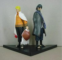 ingrosso azione figura ems-Naruto Figure Uzumaki Naruto e Uchiha Sasuke Action PVC Figure Giocattoli Modello Dolls 16cm Circa Grande Regalo EMS