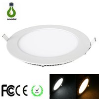 Wholesale china sale led for sale - Group buy hot sales LED Panel Light Round W W W Ceiling Lights Nature White Warm White Cool White LED Downlights in Lighting China
