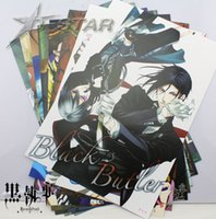 Wholesale Sticker Per Room - Free Shipping 8pcs Japanese Anime Black Butler Kuroshitsuji Cartoon High Quality Embossing Posters Poster (8pcs per set)