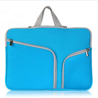 Wholesale Macbook Air Waterproof - Fashion Laptop Protective Case Zipper Sleeve Bag For Macbook Air Pro Retina 11 12 13 15 inch Handbag Travelling Bags Waterproof