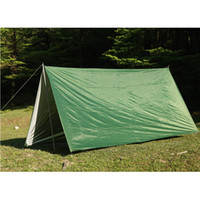 Wholesale Outdoor Shelter Canopy - Wholesale- 3mx3m Waterproof Sun Shelter Tarp Survival Camping Climbing Outdoor Tent Patio top Sun Shade Awning Canopy Garden tent Shade