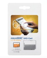 Wholesale Micro Sd Package - EVO 16GB 32GB 64GB Micro SD Card Class 10 UHS-1 SDXC SDHC TF Memory Card w  SD Adapter & Sealed Package
