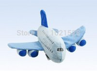 Wholesale Flying Plane Toys - 22cm Airbus A380 airplane mini stuffed toy plush plane toy aircraft plush toy flying model