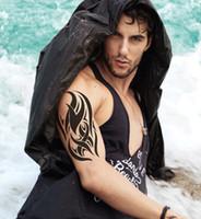 pasta de tatuaje de henna al por mayor-Diseños de punk, hombres geniales, henna negro, pegatinas adhesivas flash tatuaje falso tinta tatii temporal para el pecho del brazo