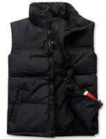 Wholesale Collared Military Vest - New 2015 Men Down Jacket Colete Masculino Waistcoat Military Veste Homme Winter Fishing Vest Male Sleeveless Jacket Clothing
