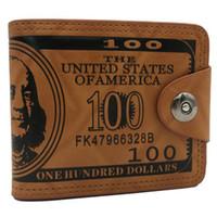 freie leder münzen geldbörsen muster großhandel-Art- und Weiseleder-Mann-Geldbörsen-Münzen-Dollar-Preis-Muster-kreativer Karten-Halter-Männer schließen freies Verschiffen der Mappe kurz
