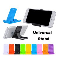 Wholesale Mini Plastic Mounting - Universal Foldable Adjustable Stand Mini Holder Mount Cradle Compact Plastic Stand Desktop For iPhone X 8 Galaxy S8 Cellphone phone Tablet