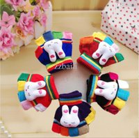 Wholesale Fingerless Gloves Baby - Toddler Child Infant Baby Fingerless Fall Winter Mittens Gloves Multicolor Knit Free Shipping