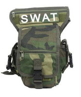 Wholesale Swat Drop Leg - Wholesale-MULTIL-PURPOSE SPORT ARMY SWAT Tactical LEG DROP UTILITY THIGH PACK CYCLING BIKER Waist Pouch Carrier Bag Freeshipping O014