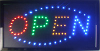 """Wholesale Cheap Light Signs - 2017 CHEAP PRICE ANIMATED LED NEON LIGHT LIGHTED OPEN SIGN + CHAIN 19""""X10"""" SEMI-OUTDOOR OF LED"""