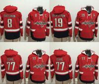 Wholesale Hockey Hooded - 2017 Washington Capitals Hockey Hoodies 8 Alex Ovechkin 19 Nicklas Backstrom 77 T.J.Oshie Hoodie Jerseys Hooded Stiched Hoody