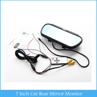 Wholesale Rear View Mirror Lcd Screen - 7 Inch Rear Mirror Monitor LCD Touch Screen Button Parking Assistance for Car Camera DVD VCD Player Rear View Display C313