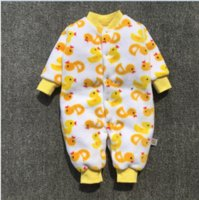 Wholesale Quilted Jumpsuits - Winter new warm baby jumpsuit clothing and cotton quilted baby clothes and baby clothes spring autumn
