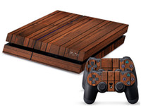 Moda madera DECAL SKIN PROTECTIVE STICKER para SONY PS4 CONSOLE CONTROLLER