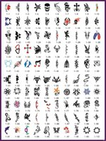 Wholesale Tattoo Flash Stencil - Free Shipping 100Pcs One book Mixed Temporary Tattoo Stencils For Temporary Body Art Glitter  Airbrush  Flash Tattoo