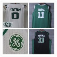 Wholesale Free Clothing Games - Jayson Tatum jerseys 0 Best Quality Mens basketball shirts Kyrie Irving 11 2018 White Green color Clothing Celtics Free Shipping cosplay