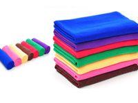ingrosso pulitore di straccio di vetro-Spedizione gratuita 30cmx60cm Asciugamano per pulizia in microfibra Detergente per vetri in microfibra Stracci Lucidatura per auto Scrubing Dettaglio Panno