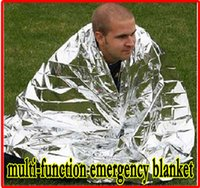 Wholesale Hot Thermal Blanket - HOT Multi-function Outdoor Camping Waterproof Emergency Survival Insulation Foil Thermal First Aid Rescue Blanket Disaster Response Tool